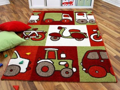 Kinder und Spielteppich Softstar Motors Rot