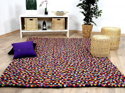 nepal filzkugelteppich felty bunt multicolour kaufen bei teppichversand24. Black Bedroom Furniture Sets. Home Design Ideas