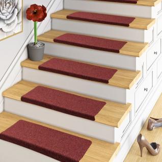 Trend Nadelfilz Stufenmatte Bent Rot (eckig) einzeln oder im 15er Set