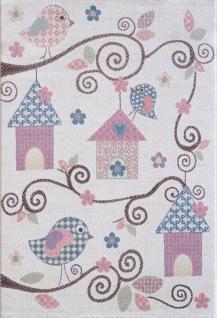 Kinder und Spielteppich Softstar Kids Vögelhäuschen Pastell Bunt