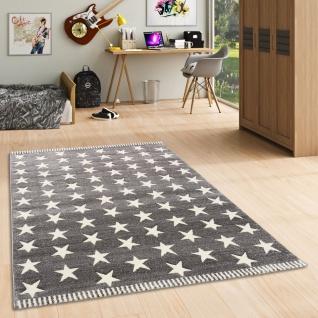 Kinder und Jugend Teppich Savona Grau Creme Sterne