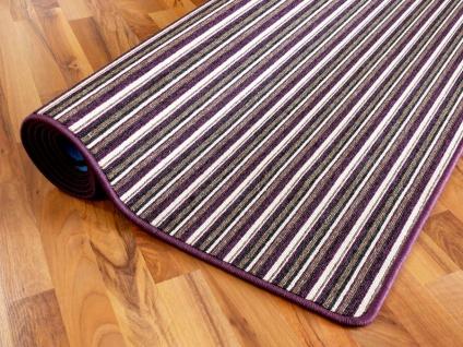Streifenberber Teppich Lila Stripes