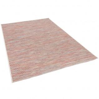 In- und Outdoor Teppich Flachgewebe Carmel Terrakotta Meliert - Vorschau 2