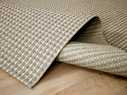 In & Outdoor Teppich Flachgewebe Natur Panama Beige Creme Mix