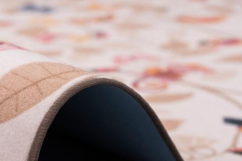 Kinder Spiel Teppich Velours Urwaldtiere Beige - Vorschau 4