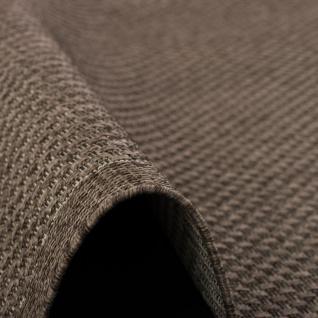 In & Outdoor Teppich Flachgewebe Natur Panama Dunkelbraun Bordüre - Vorschau 3