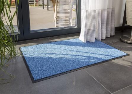 Fußmatte Sauberlauf Proper Tex Uni Blau in 5 Größen
