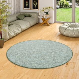 Schlingen Teppich Memory Grün Meliert Rund in 7 Größen