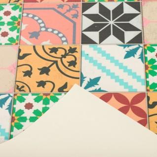Vinyl Teppich Küchenläufer Evora Mosaik Fliesenoptik Bunt - Vorschau 3