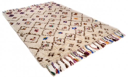 Natur Teppich Berber Nomadic Design Rauten Bunt