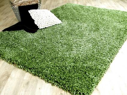 Hochflor Langflor Shaggy Teppich Luxury Grün