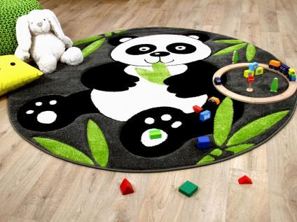 Kinder Spiel Teppich Savona Kids Pandabär Rund