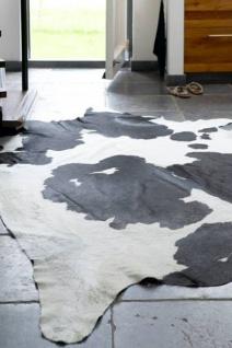 Fell-Teppich echtes Rinderfell Schwarz Gemustert