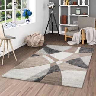 Designer Teppich Maui Modern Beige Braun Karamell Retro