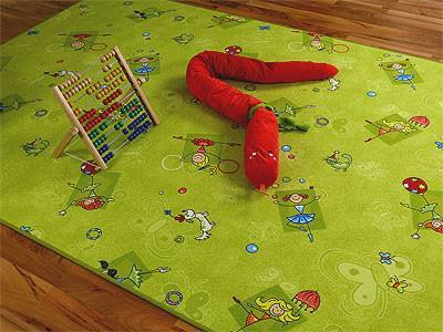Kinder Spielteppich Grün Girls - Vorschau 1