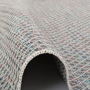 In- und Outdoor Teppich Flachgewebe Carmel Blau Meliert - Vorschau 3
