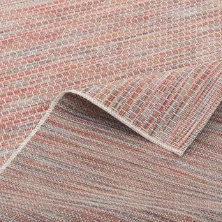 In- und Outdoor Teppich Flachgewebe Carmel Terrakotta Meliert - Vorschau 4