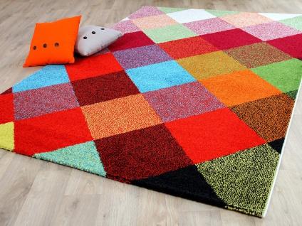 Designer Teppich Funky Karo Bunt