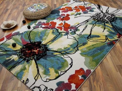 Designer Teppich Arizona Blumen Bunt