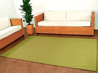 Sisal Natur Teppich Dekowe Hellgrün
