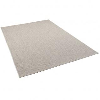 In- und Outdoor Teppich Flachgewebe Carpetto Uni Grau Mix - Vorschau 2