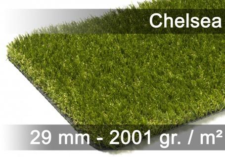 Luxus Kunstrasen Rasenteppich Chelsea Grün