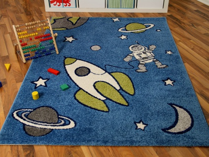 Kinder und Spielteppich Softstar Space World