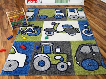Kinder und Spielteppich Softstar Motors Blau