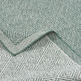 In- und Outdoor Teppich Beidseitig Flachgewebe Hampton Grün Meliert