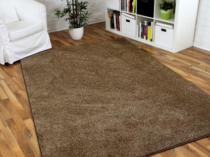 Hochflor Velours Teppich Triumph Karamell in 24 Größen