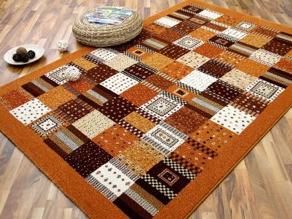 Designer Teppich Arizona Terrakotta Felder-