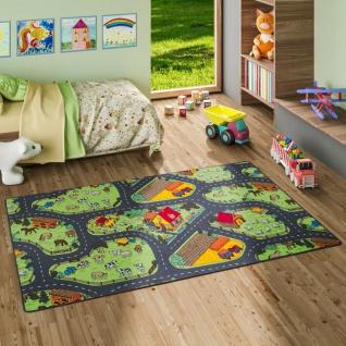 Kinder Spiel Teppich Bauernhof Grün