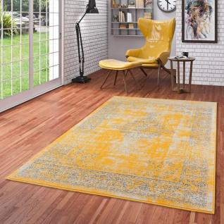 Designer Teppich Passion Vintage Bordüre Safran Gelb