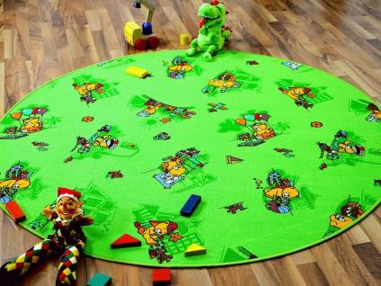 Kinder Spielteppich Bärenwelt Grün Rund