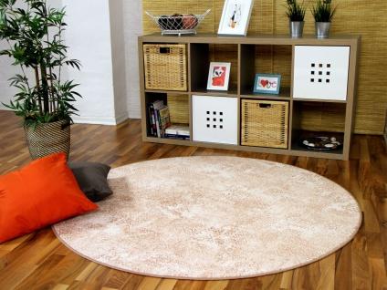 Designer Soft-Velours Teppich Vintage Terrakotta Rund