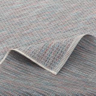 In- und Outdoor Teppich Flachgewebe Carmel Blau Bunt Karo - Vorschau 4