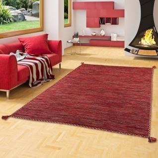 Natur Teppich Kelim Prico Pink
