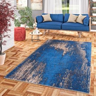 Luxus Vintage Designer Teppich Primus Blau Verlauf