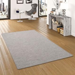 Sisal-Optik Designer Flachgewebe Teppich Pure Grau Meliert