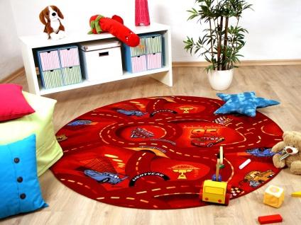 Kinder und Spielteppich Disney Cars Rot Rund in 7 Größen
