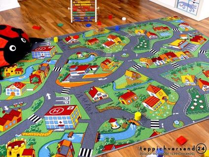 Kinder Spiel Teppich Little Village Grün
