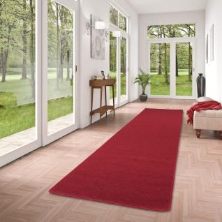 Feinschlingen Läufer Velour Teppich Strong Rot