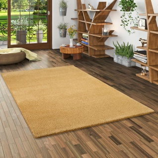 Hochflor Shaggy Teppich Palace Curry