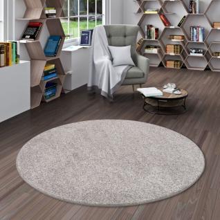 Luxus Velours Teppich Laguna Soft Grau Rund