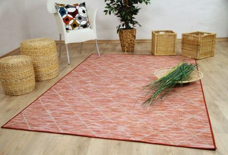 In- und Outdoor Teppich Beidseitig Flachgewebe Hampton Karo Terrakotta