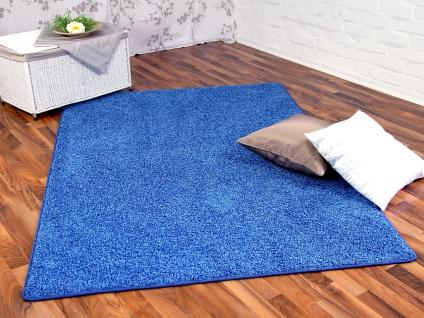 Hochflor Shaggy Teppich Prestige Blau in 24 Größen