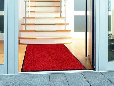 Fußmatte Sauberlauf Proper Tex Uni Rot in 6 Größen