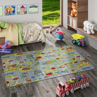 Kinder Spiel Teppich Abenteuerland Bunt