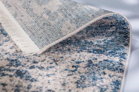 Orient Vintage Designer Teppich Schöner Wohnen Mystik Beige Blau Verlauf