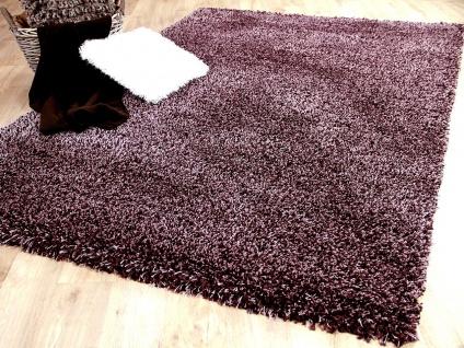 Hochflor Langflor Shaggy Teppich Luxury Lila